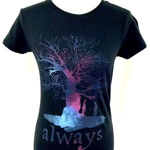 Harry Potter Black T-shirt always tree size s